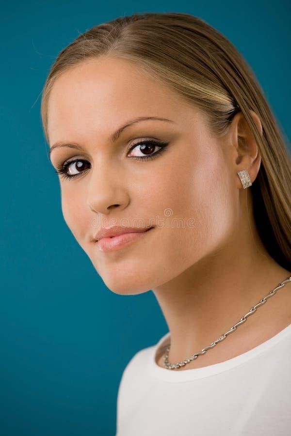 Beautiful collage girl stock image