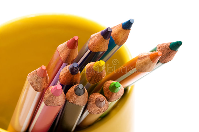 Download Beautiful color pencils stock photo. Image of isolated - 6138900