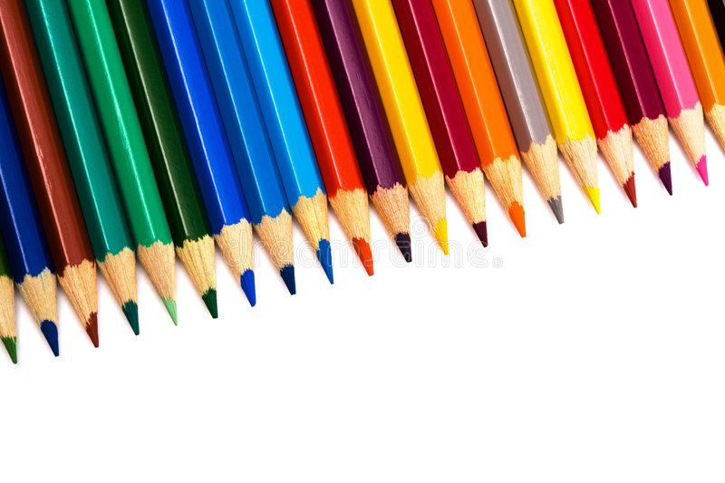 Download Beautiful color pencils stock photo. Image of colors, creative - 7472184