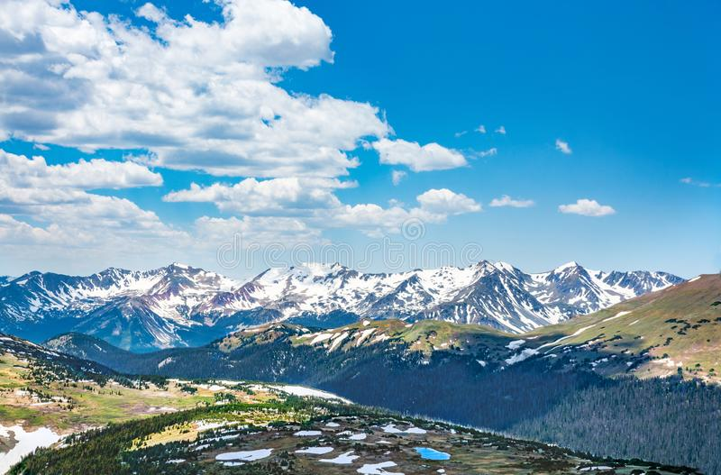Beautiful  Colorado Rocky Mountains  spring scenery. stock images