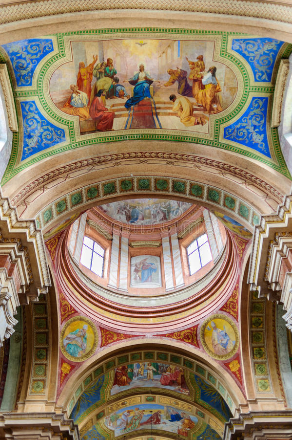 Beautiful colored dome of the basilica royalty free stock photos
