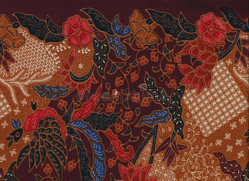 Beautiful ethnic fabric pattern close up. Beautiful colored ethnic fabric pattern close up for background., wall-paper, asian style stock photos