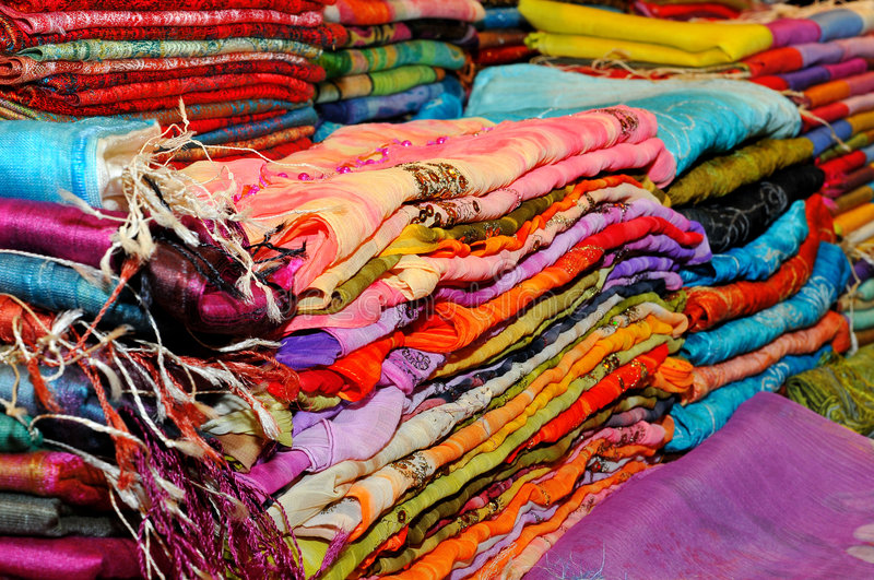 Download Beautiful colored scarfs stock image. Image of handkerchiefs - 7628991