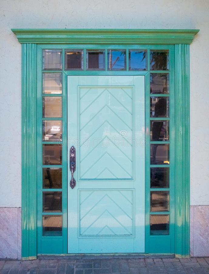 Beautiful colored texture door on the facade royalty free stock photos