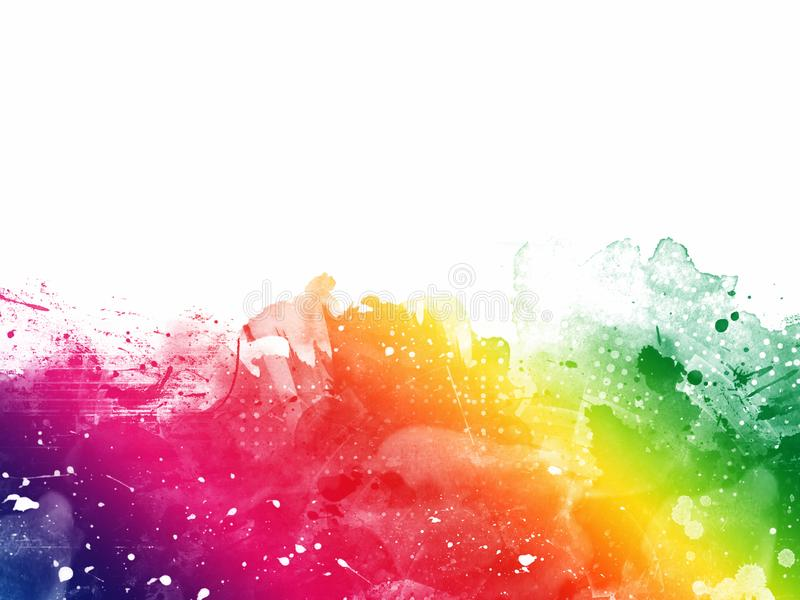 Colorful Abstract Artistic Watercolor Paint Background stock image