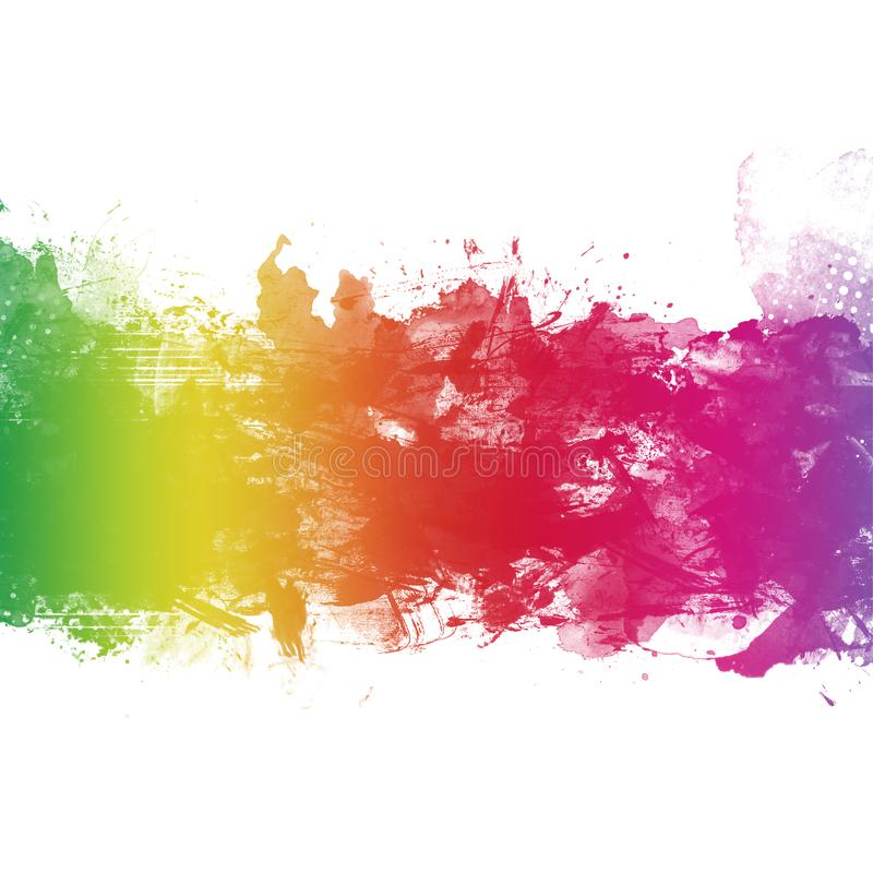 Colorful Abstract Artistic Watercolor Paint Background royalty free stock photography