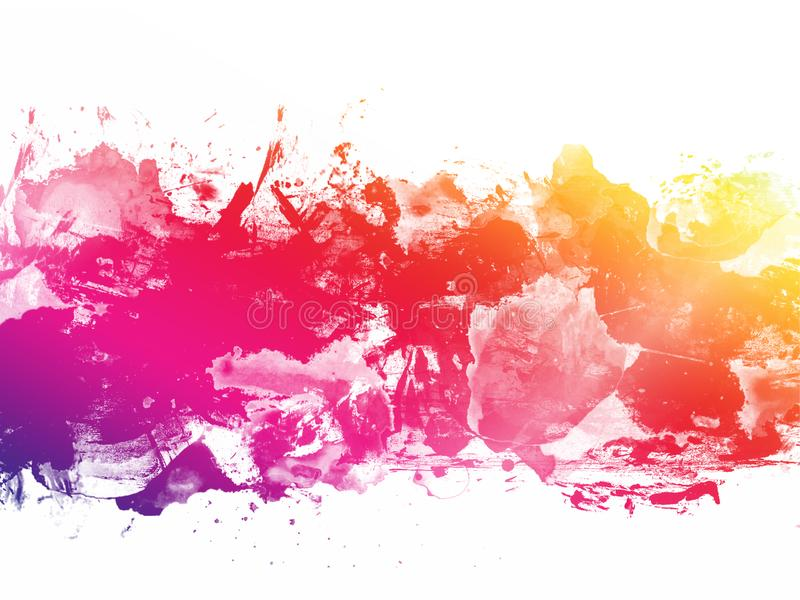 Colorful Abstract Artistic Watercolor Paint Background royalty free stock photo