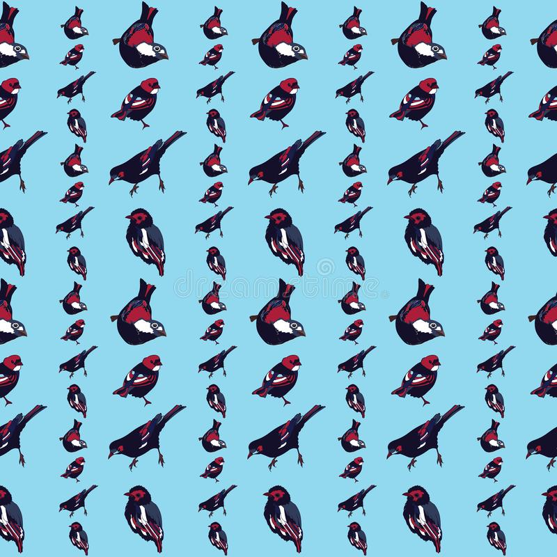 Beautiful and colorful birds seamless pattern vector stock illustration