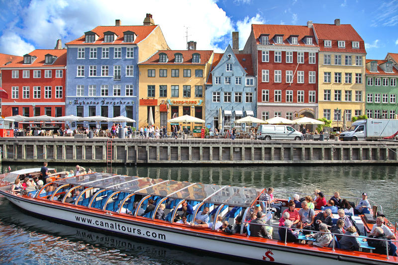 Beautiful colorful buildings in Copenhagen royalty free stock image