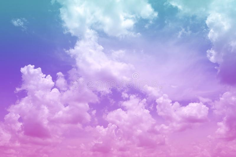 Beautiful colorful cloud and sky abstract for background, soft color and pastel color royalty free stock photos