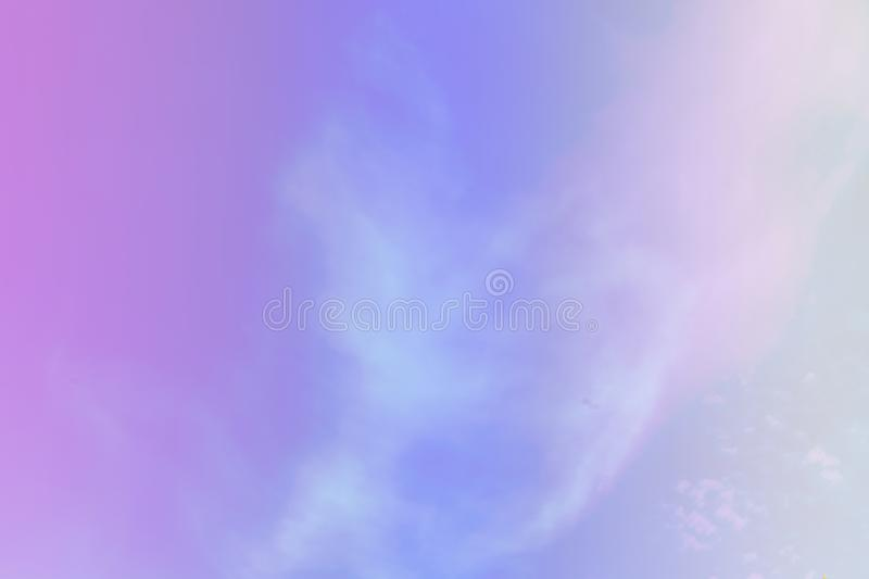 Beautiful colorful cloud and sky pastel color. Background for design royalty free stock photo