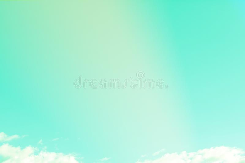 Beautiful colorful cloud and sky pastel color. Background for design stock photography