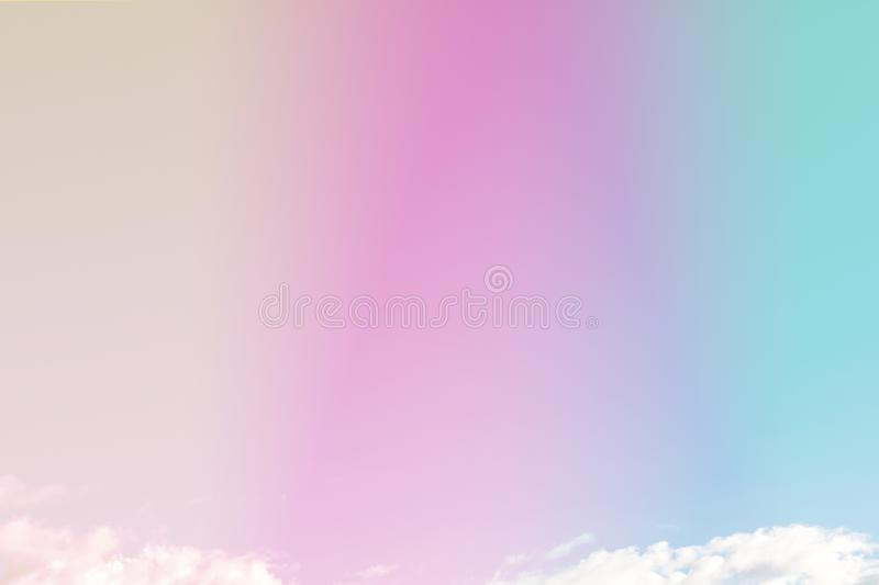 Beautiful colorful cloud and sky pastel color. Background for design royalty free stock photos