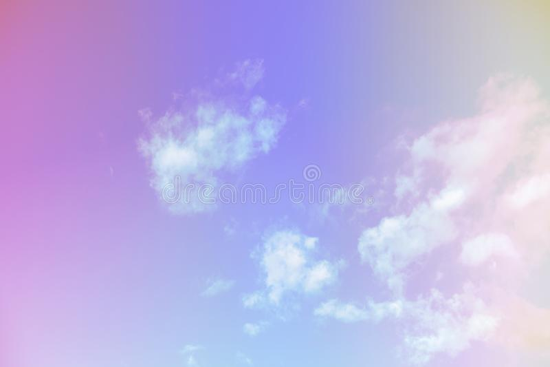 Beautiful colorful cloud and sky pastel color. Background for design stock image