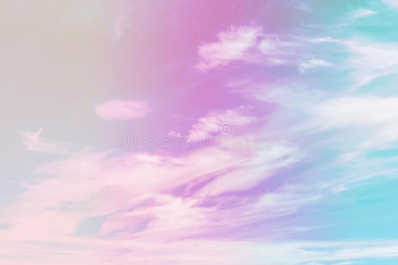Beautiful colorful cloud and sky pastel color. Background for design stock photo
