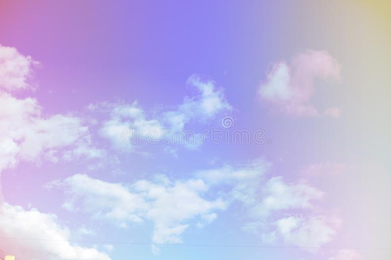 Beautiful colorful cloud and sky pastel color. Background for design royalty free stock image