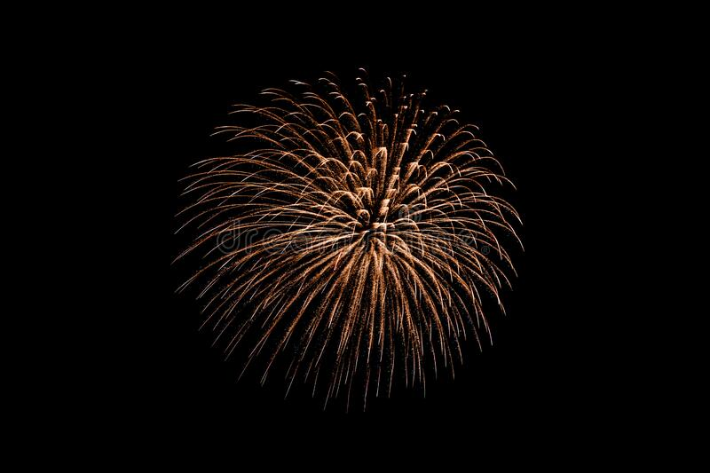 Beautiful colorful firework display at night for celebrate stock photos