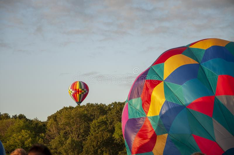 Beautiful Colorful Hot Air Baloon - Thirty Five royalty free stock photography