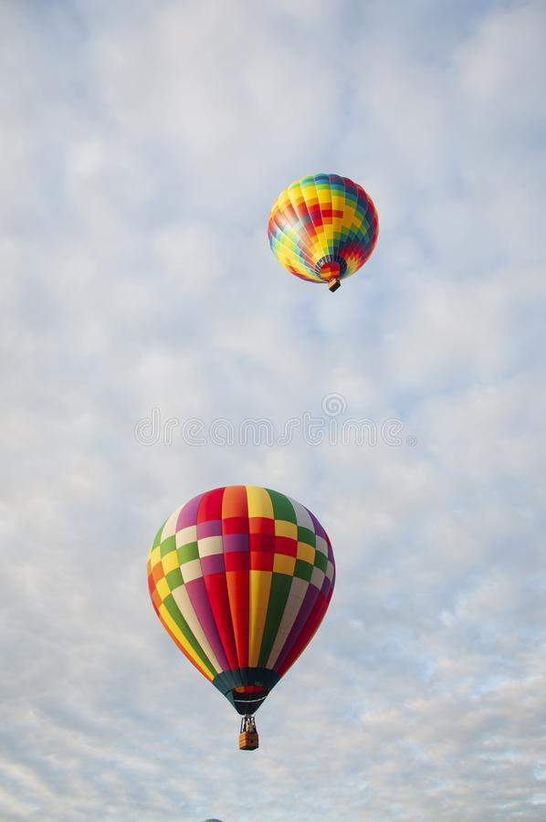 Beautiful Colorful Hot Air Baloon -Thirty One stock photo