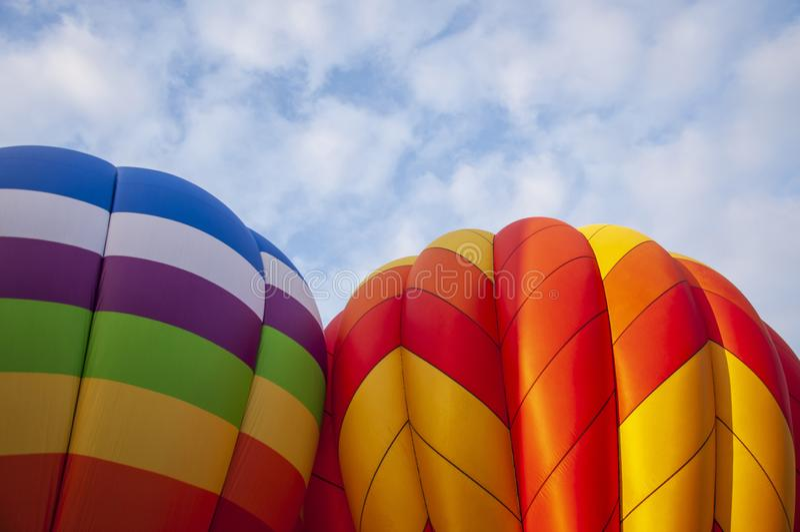 Beautiful Colorful Hot Air Baloon-TwentyEight royalty free stock photos