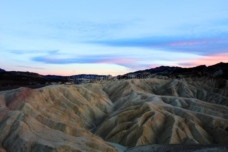 Death valley national park. Beautiful colorful landscape of death valley national park stock photo