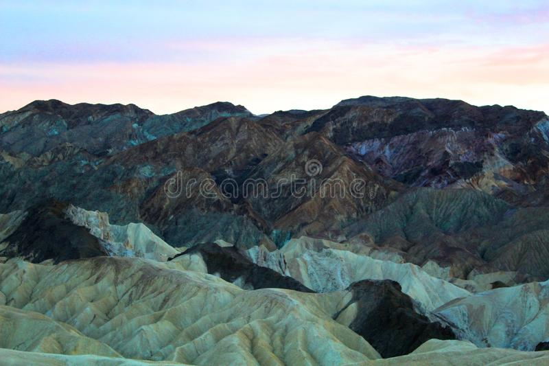 Death valley national park. Beautiful colorful landscape of death valley national park royalty free stock photos