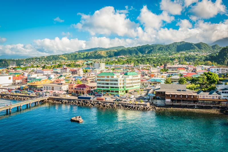 Roseau, Dominica, Caribbean stock photography