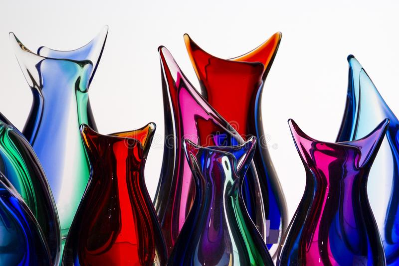 Beautiful colorful murano glass handmade in venice stock photography
