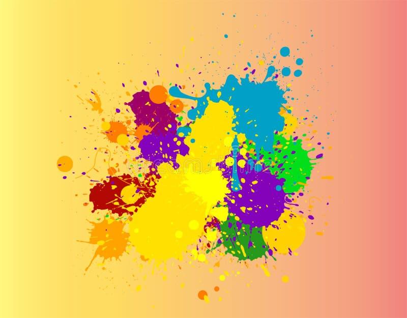 Beautiful colorful paint splash stock photo