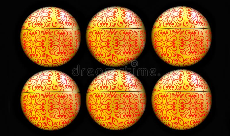 Colorful easter or christmas ornaments background royalty free illustration