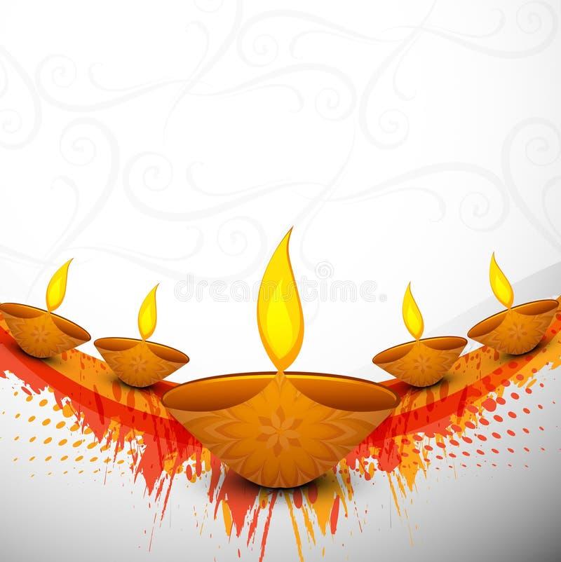 Beautiful colorful religious for Diwali diya vector illustration