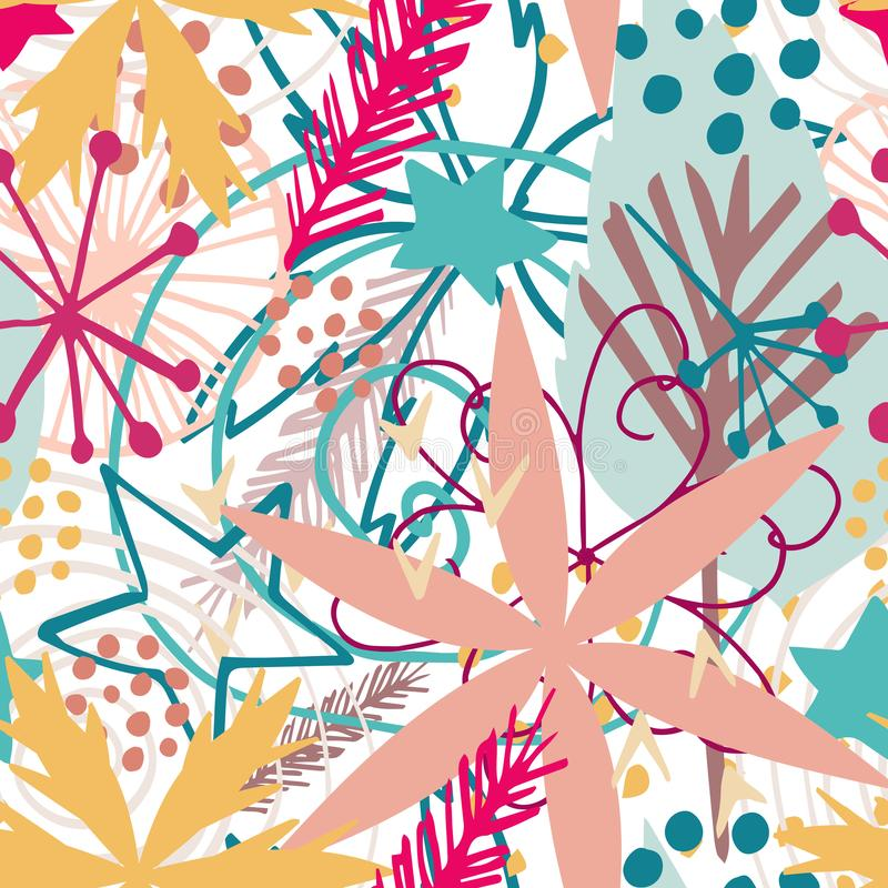 Beautiful colorful seamless vector pattern royalty free stock images