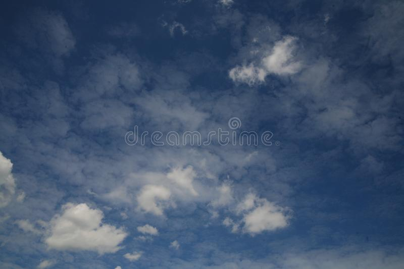 Beautiful colorful sky with several clouds stock photos