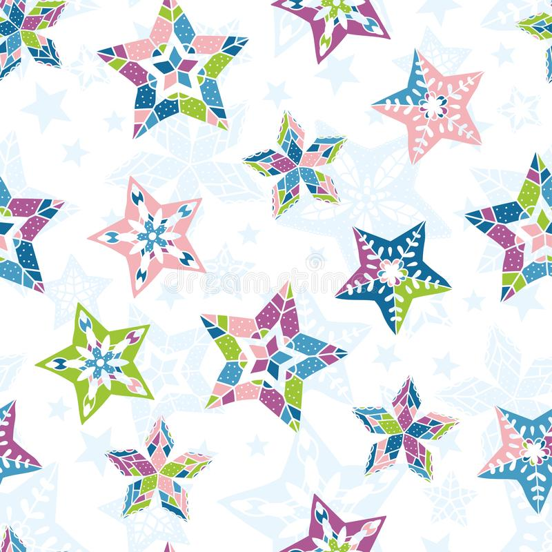 Free Beautiful Colorful Snowflakes Seamless Pattern - Hand Drawn, Great For Christmas Or New Years Themed Fabrics, Banners, Wrapping Royalty Free Stock Photo - 158251895