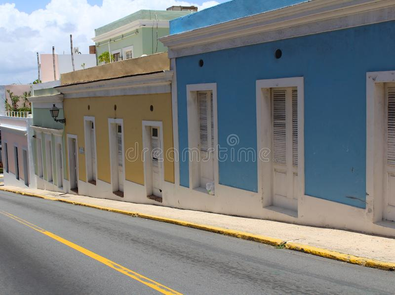 Streets of San Juan Puerto Rico stock photo