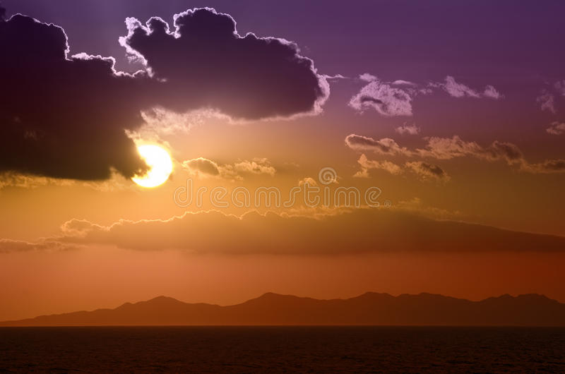 Beautiful and colorful sunset sky royalty free stock photography