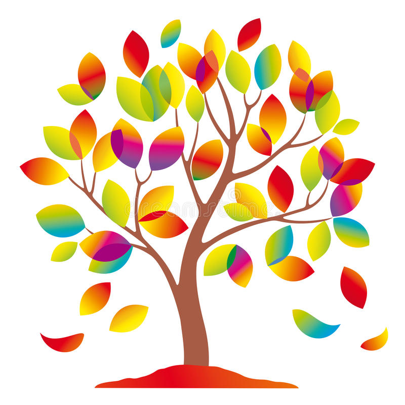 Download Beautiful Colorful Tree. Royalty Free Stock Images - Image: 16539889