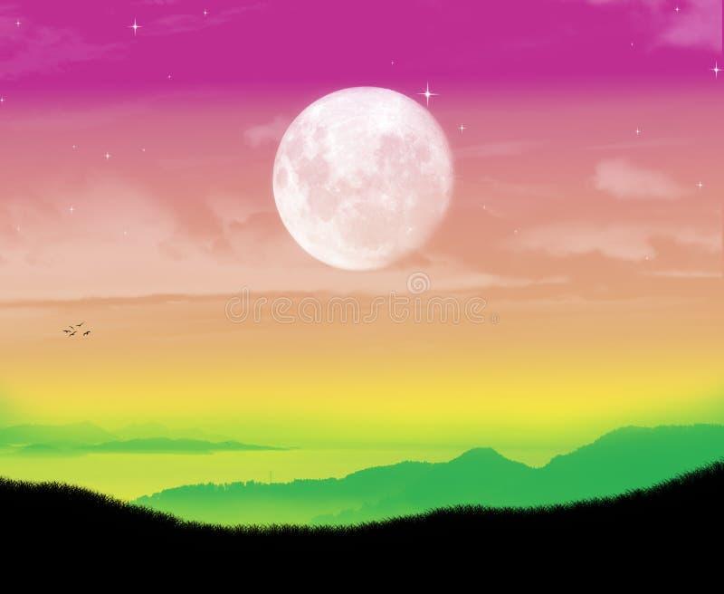 Beautiful colors landscape moment stock photo
