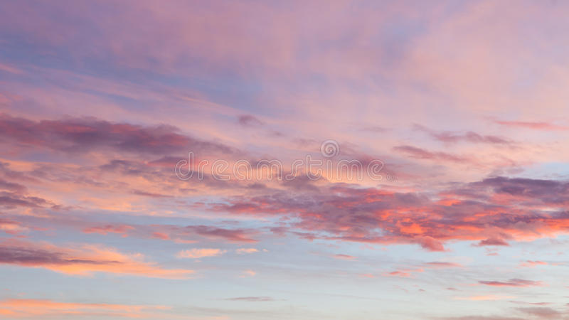 Beautiful colors sunset clouds. Sky background royalty free stock photos