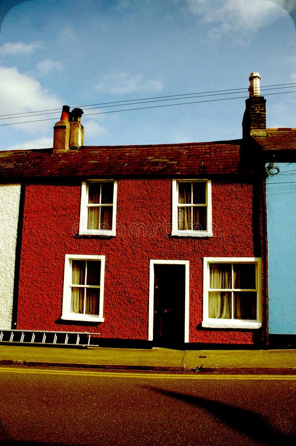 Download Beautiful And Colourful Irish Old House In Dublin Stock Photo - Image: 22883534