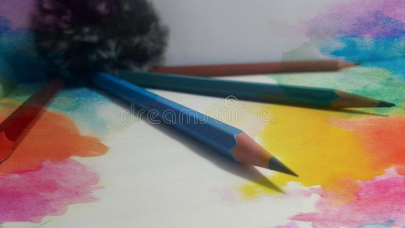 Beautiful and colourful pencils royalty free stock images