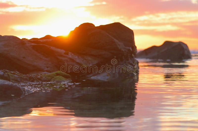 Colour of a sunrise royalty free stock photography