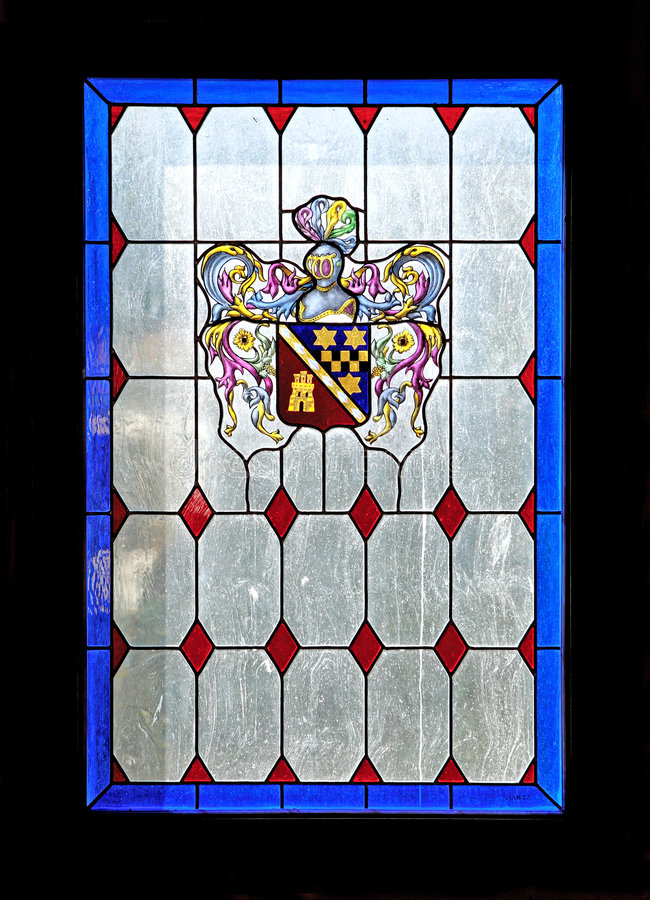 Beautiful colours of a stained glass window royalty free stock images