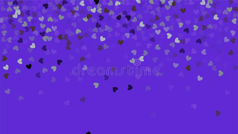 Beautiful Confetti Hearts Falling on Background. Invitation Template Background Design, Greeting Card, Poster. Valentine Day. Vector illustration vector illustration