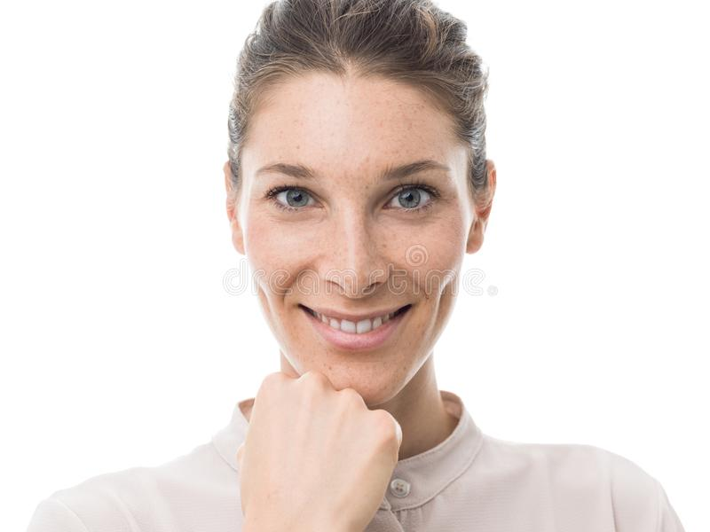 Beautiful confident woman royalty free stock images