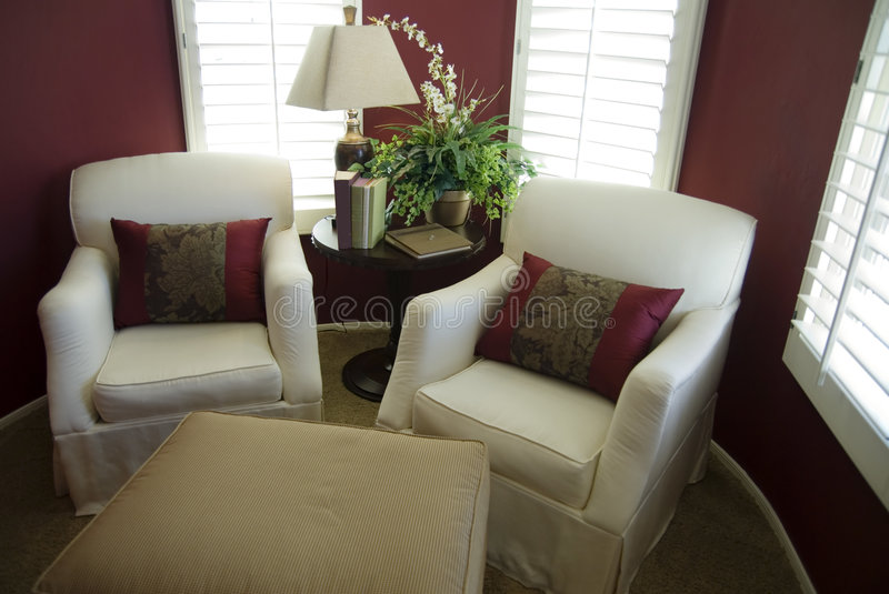 Beautiful Conversation Nook. In new model home stock image