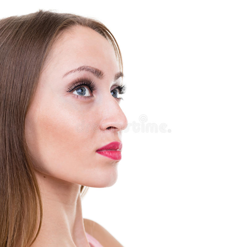 Beautiful coquette young woman royalty free stock photos
