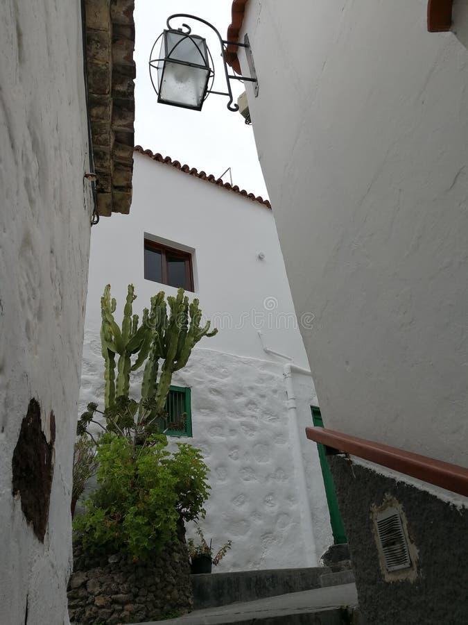 A beautiful corner of the village of Artenara royalty free stock images