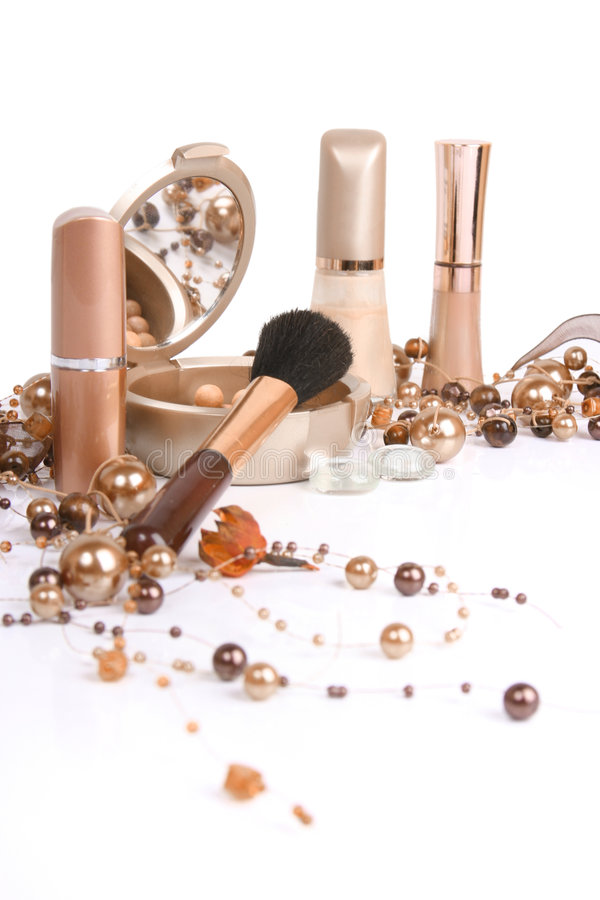 Beautiful cosmetics. Cosmetics isolated on white background stock photo