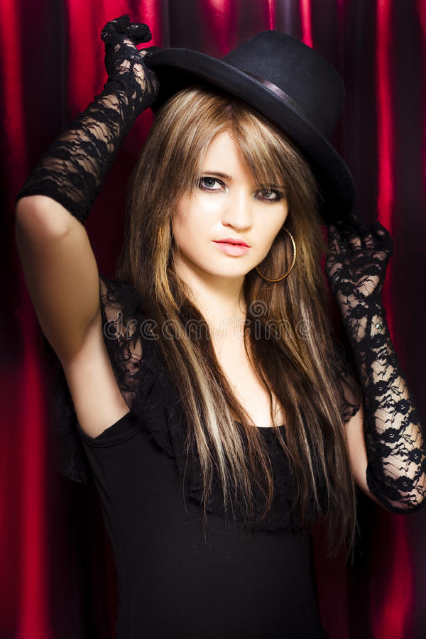 Download Beautiful Costumed Young Showgirl Stock Image - Image: 25163933